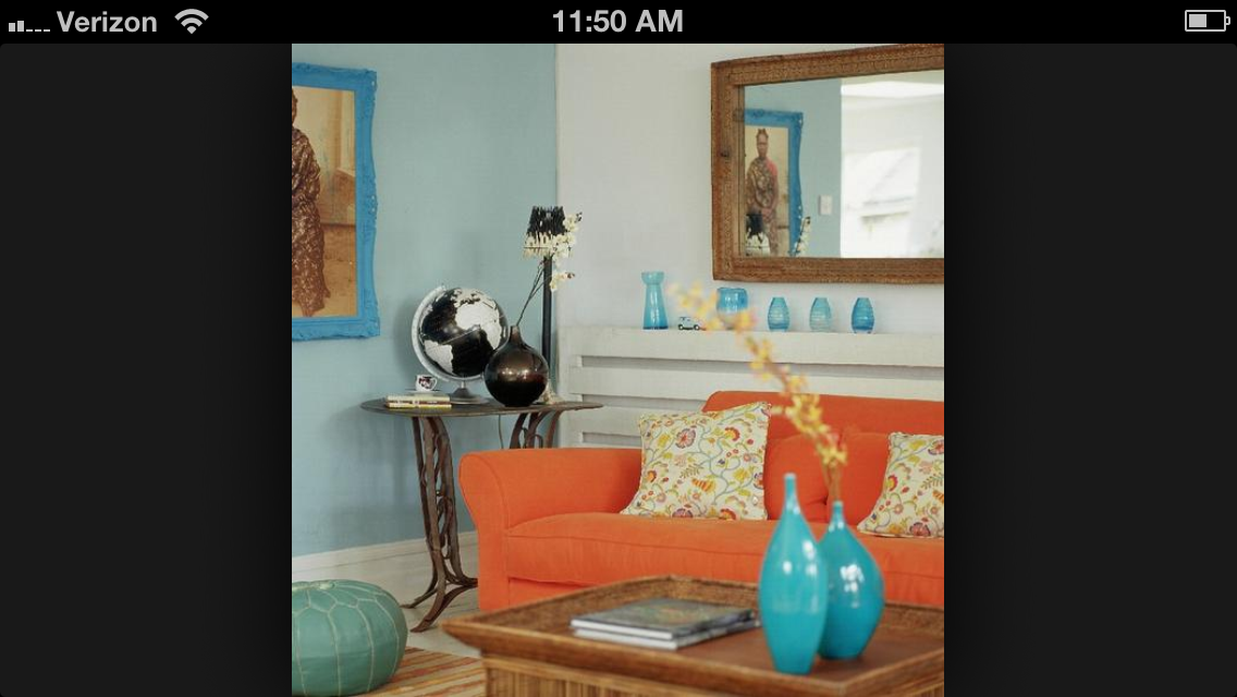 Colors Bold Pieces Living Room Coral Turquoise Pinterest