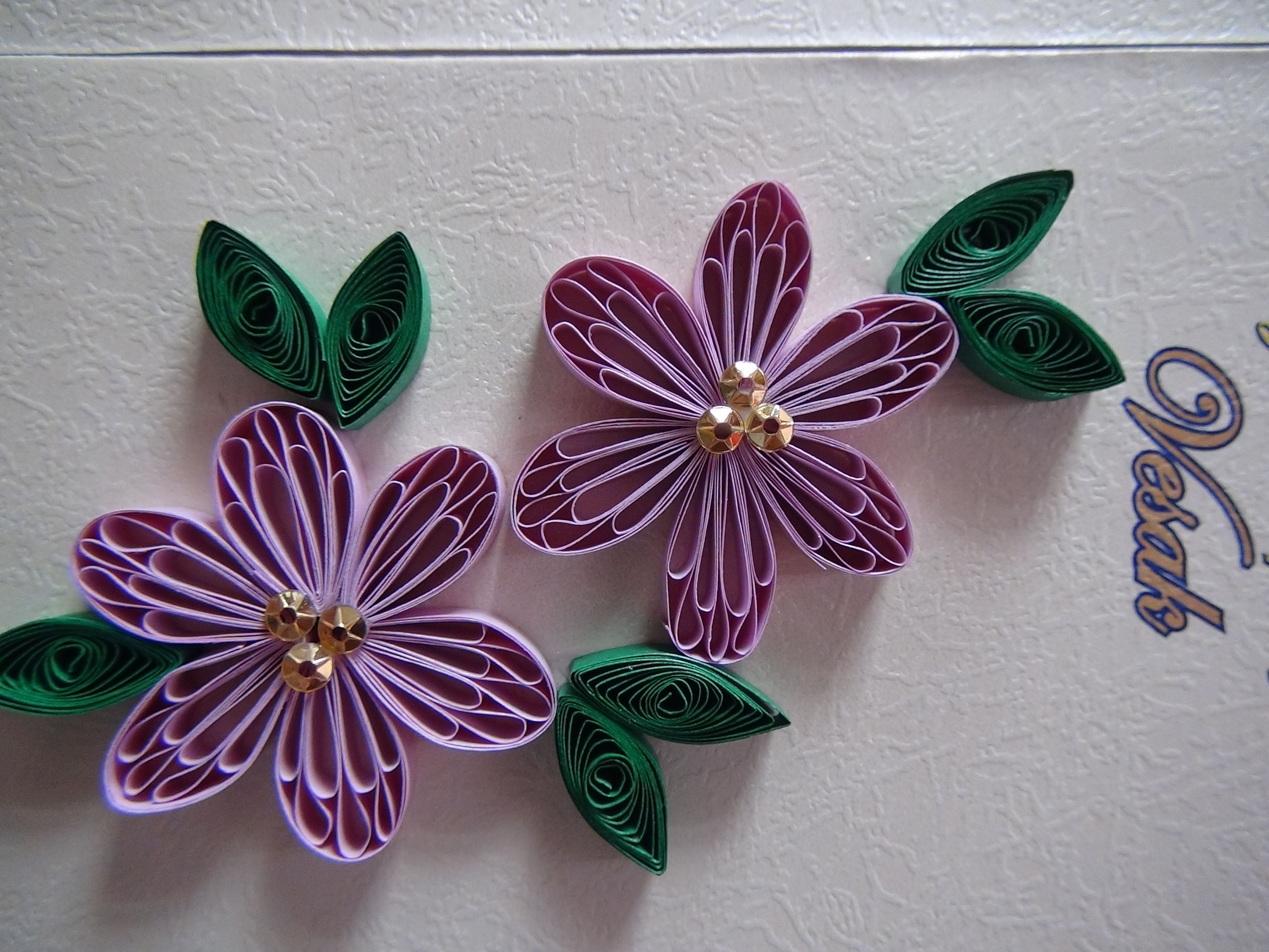 flower paper quilling | Paper Quilling Invitation Card. | Pinterest