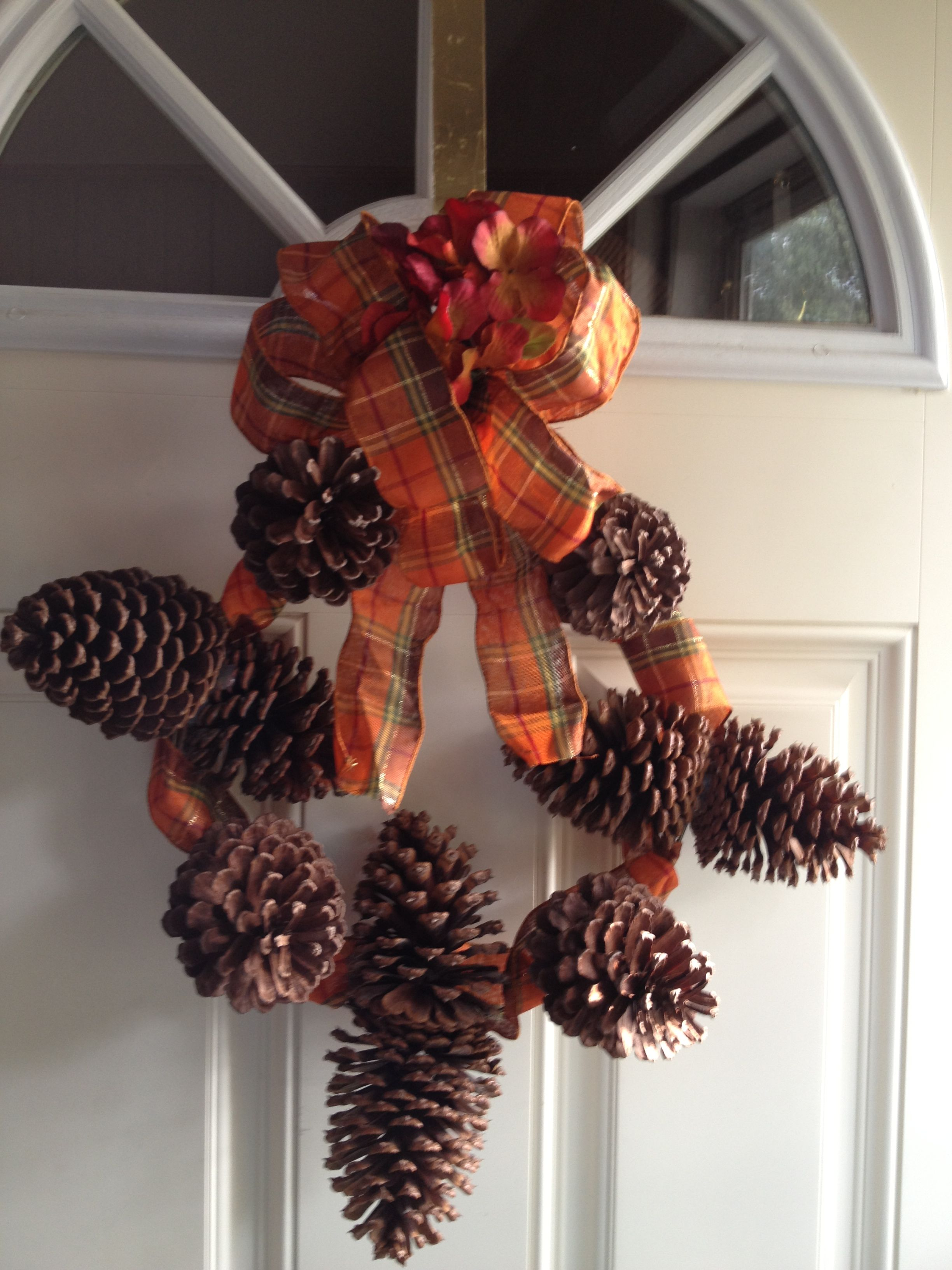 Pine Cone Wreath Crafts Pinterest
