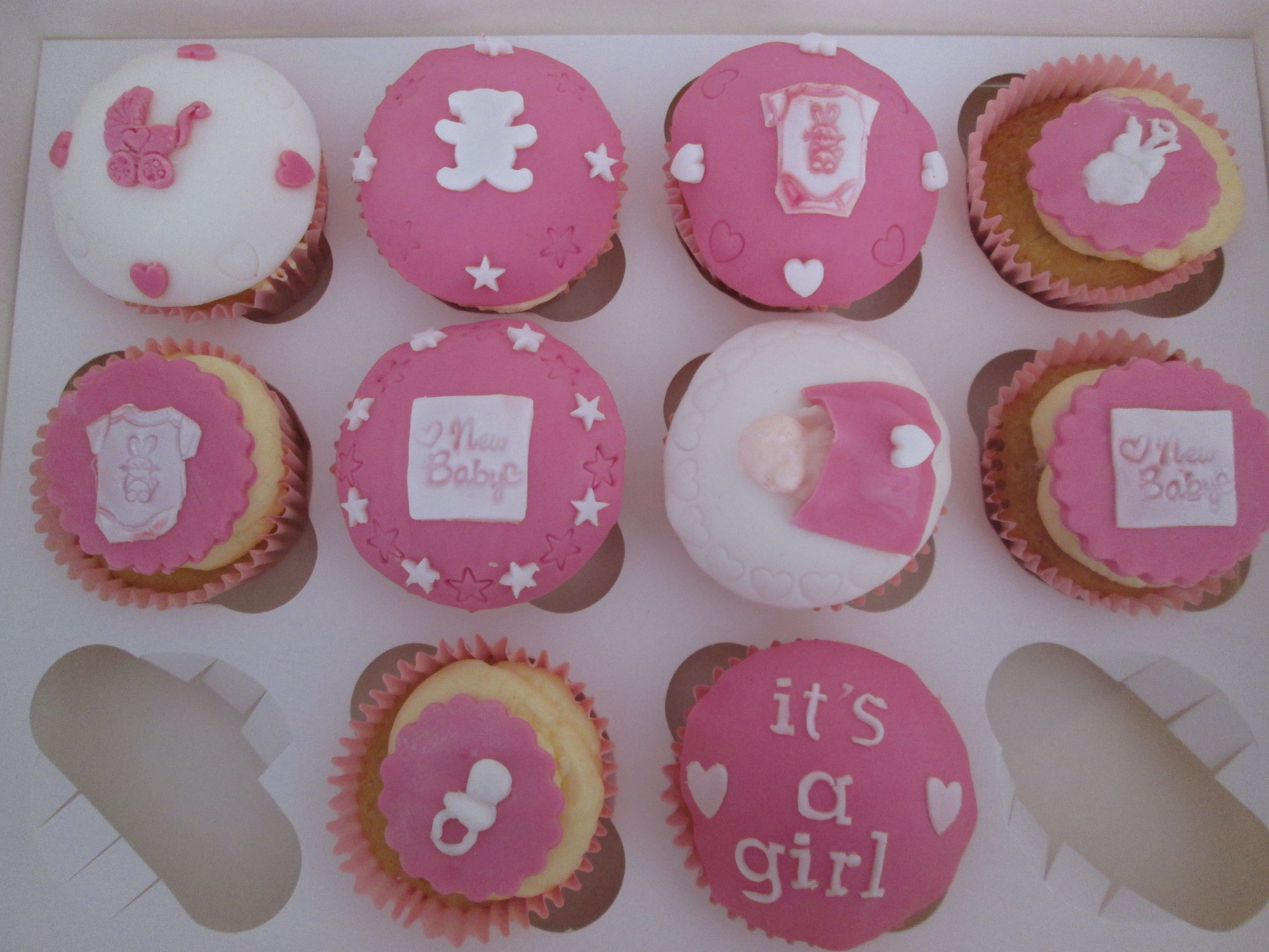 Girls baby shower cupcakes baby showers ideas pinterest - Girl baby shower cupcake ideas ...