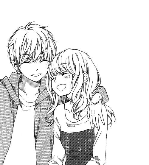картинки черно белые аниме любовь