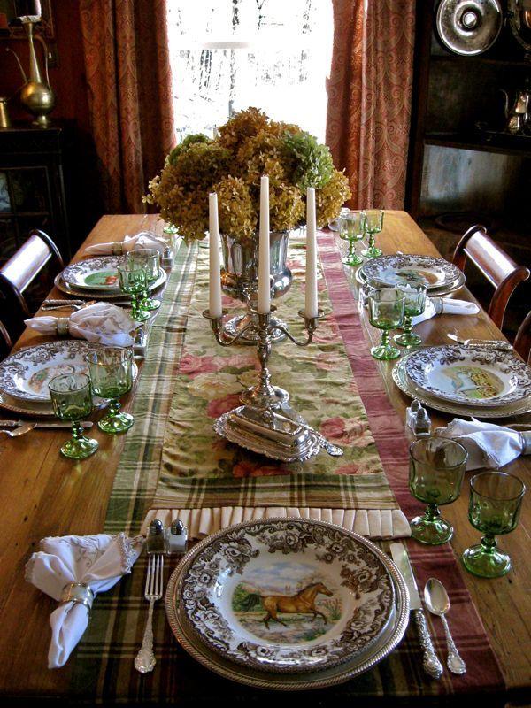Elegant Table Setting Thanksgiving Autumn Pinterest