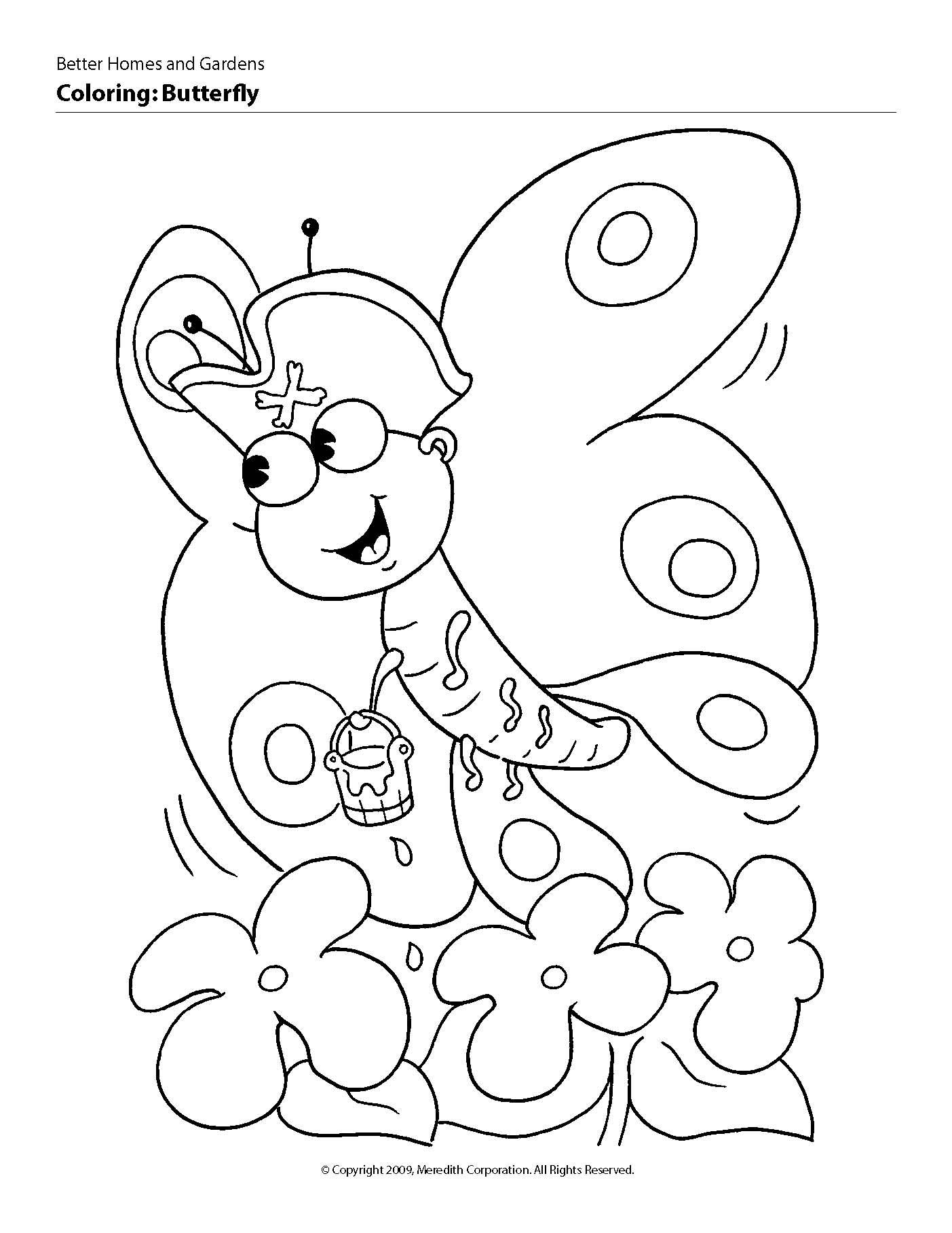 Little Butterfly Coloring pages