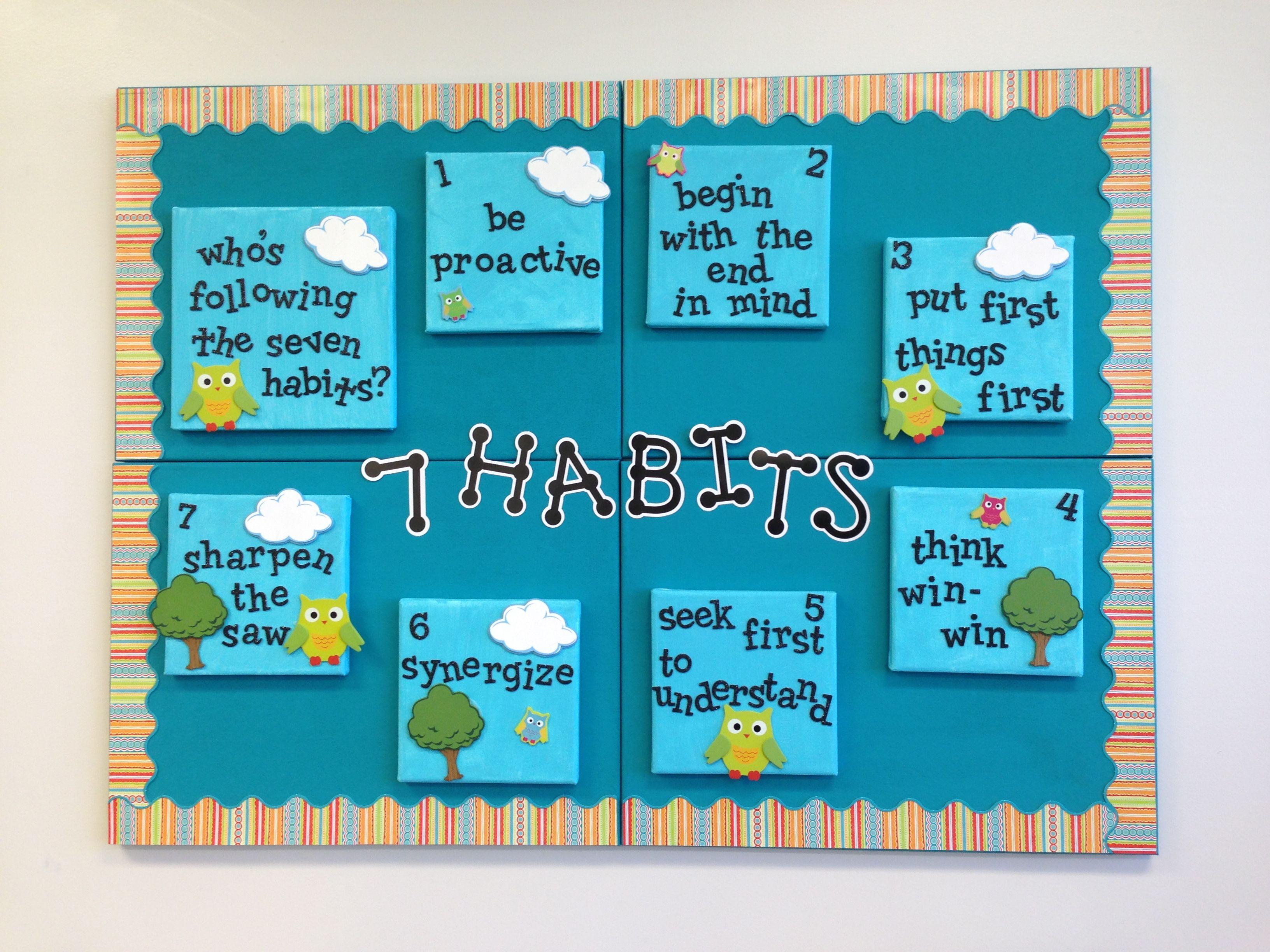 Seven habits display board classroom ideas pinterest for 7 habits decorations