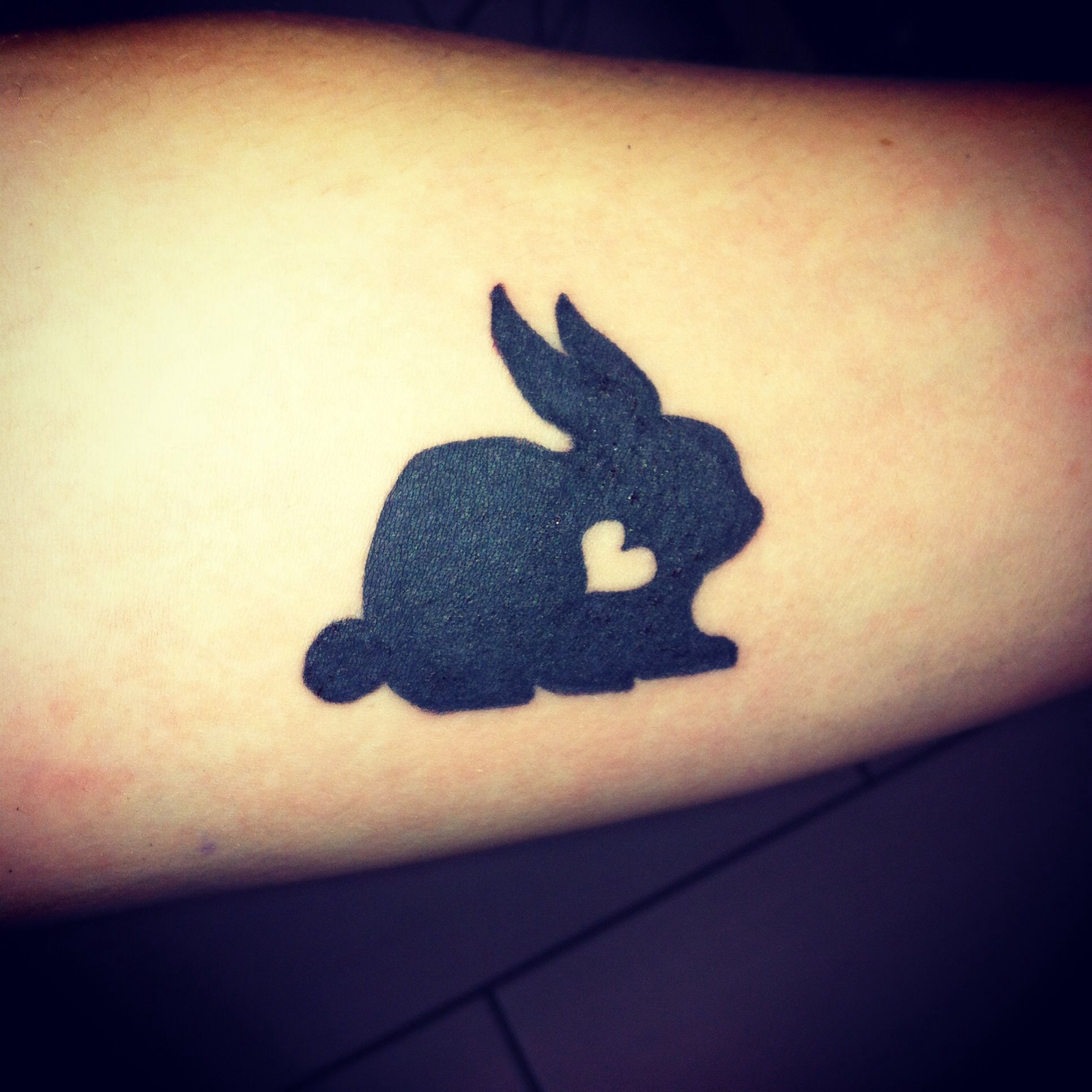 Little bunny tattoo body art is beautiful pinterest for Small bunny tattoo