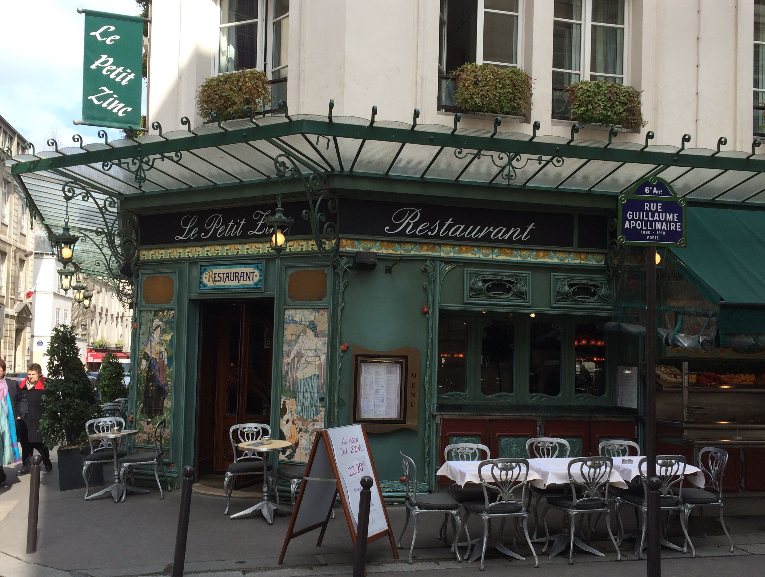 Le petit zinc restaurant paris art nouveau architecture for Le petit salon paris