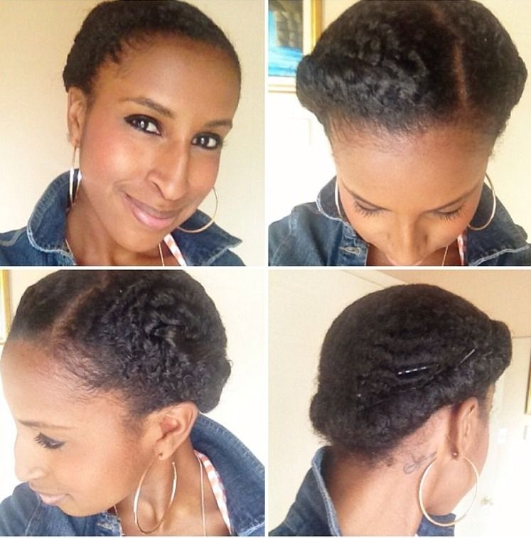 Simple Hairstyles For Natural N Hair : Pin by cantu beauty on protective styles
