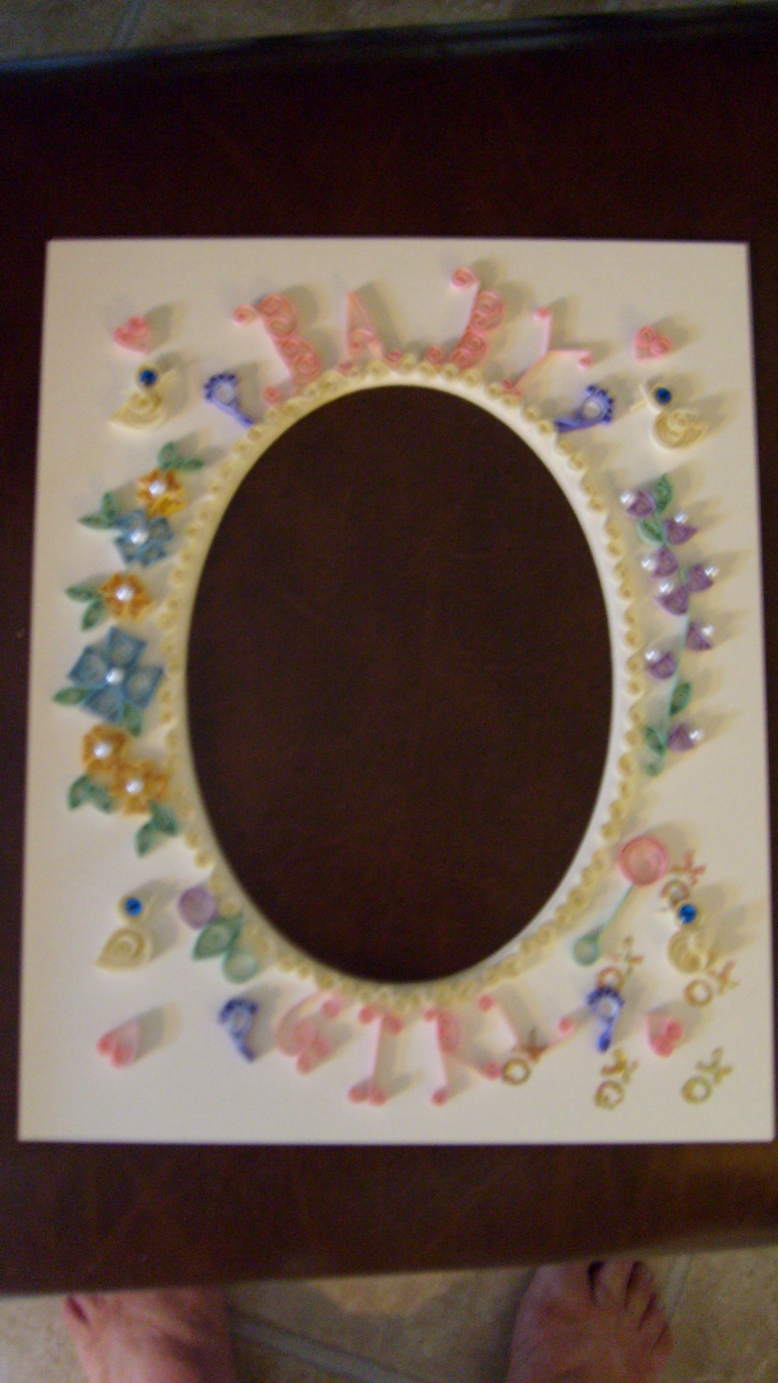 quilled frame | Crafts, Quilling | Pinterest