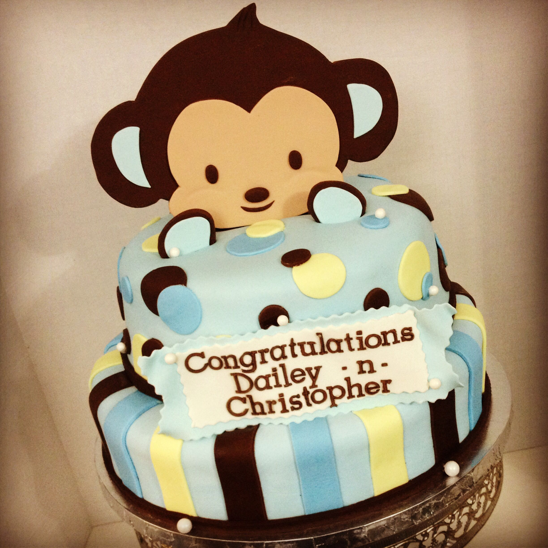 Baby shower monkey fondant cake cakes pinterest - Baby shower monkey pictures ...