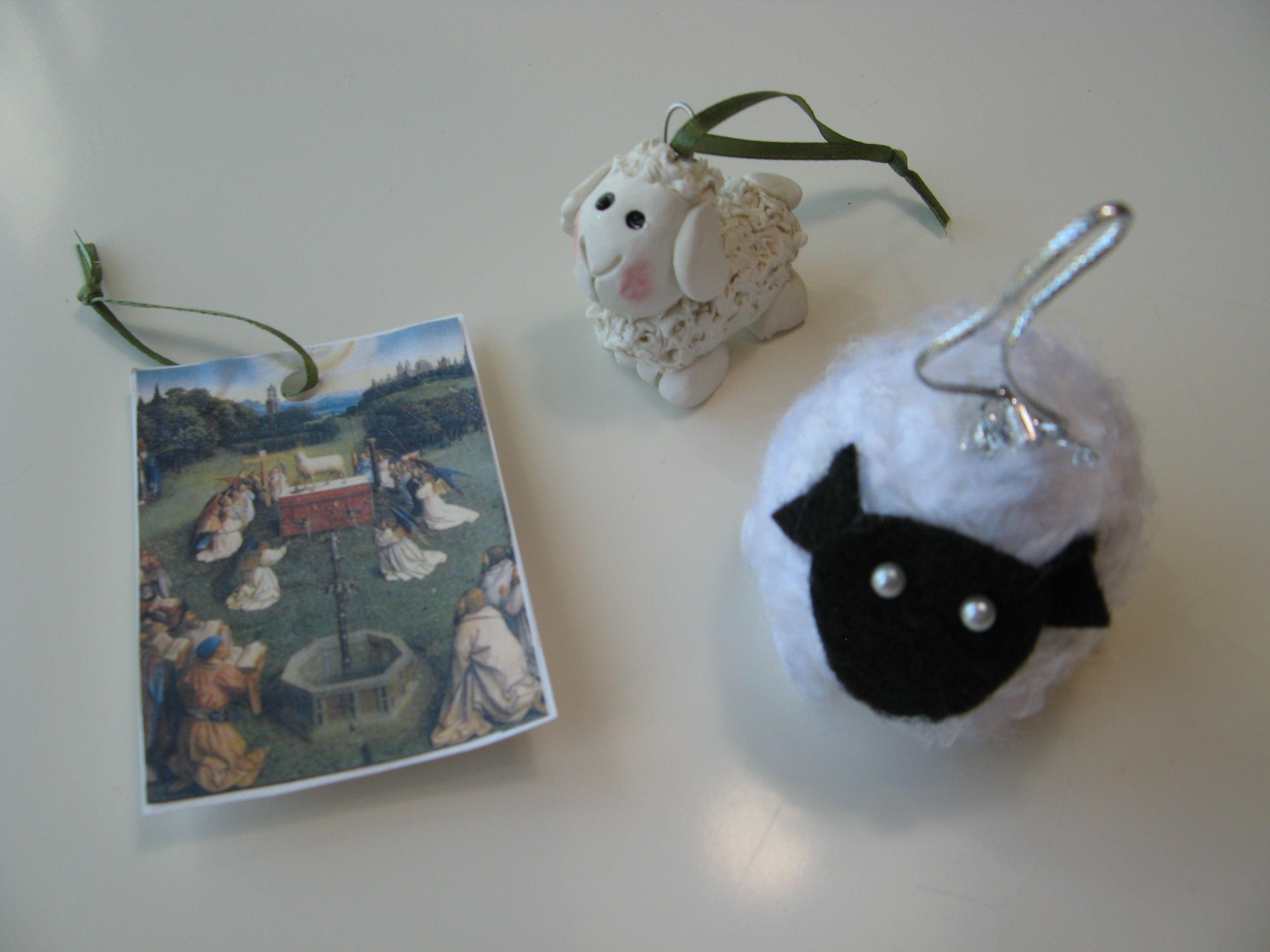 Day 5. A lamb   Jesse Tree Ornaments   Pinterest