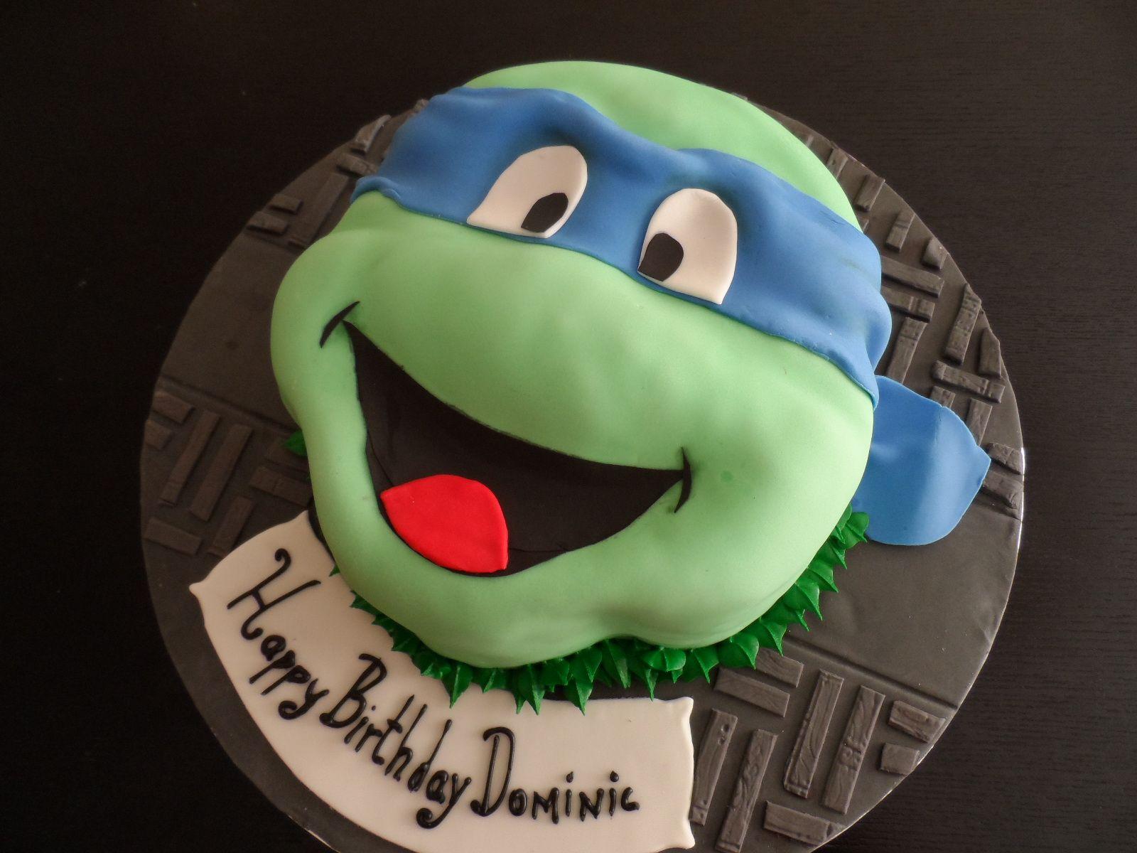 mutant ninja turtle cake