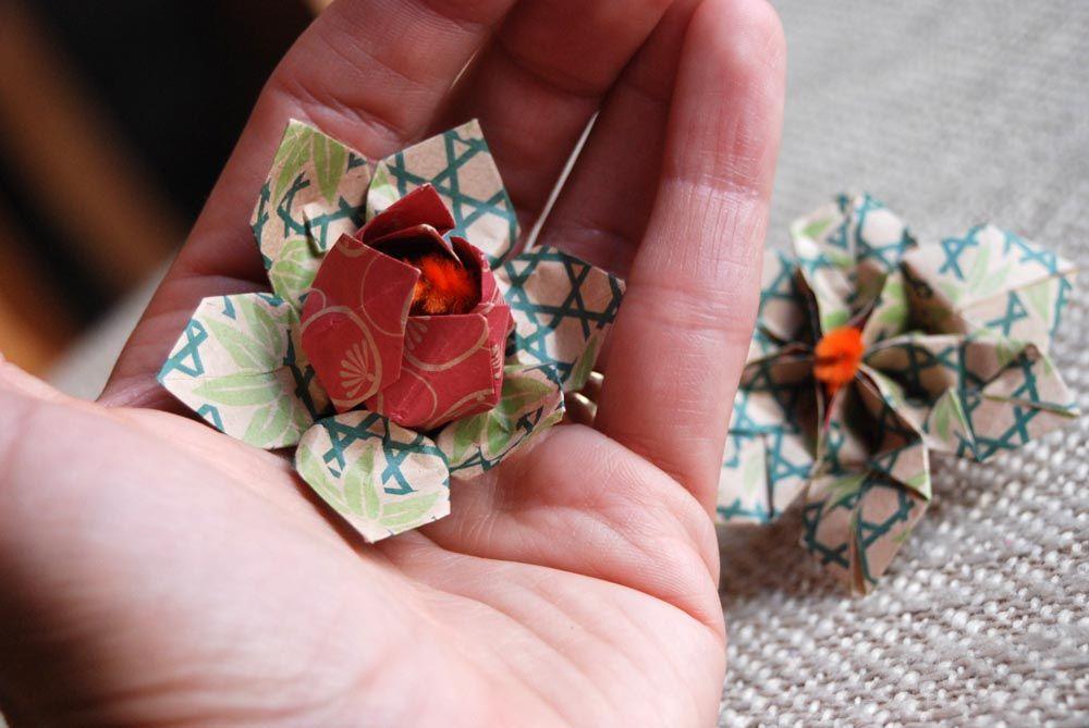 Sticky Note Origami Flower Step By Step