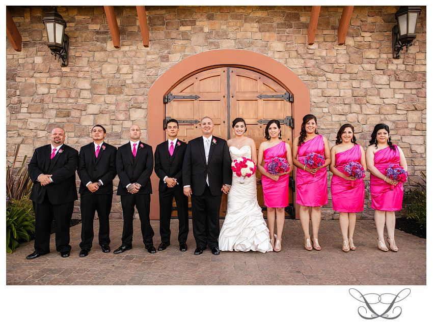 A Hot Pink And Black Wedding Party