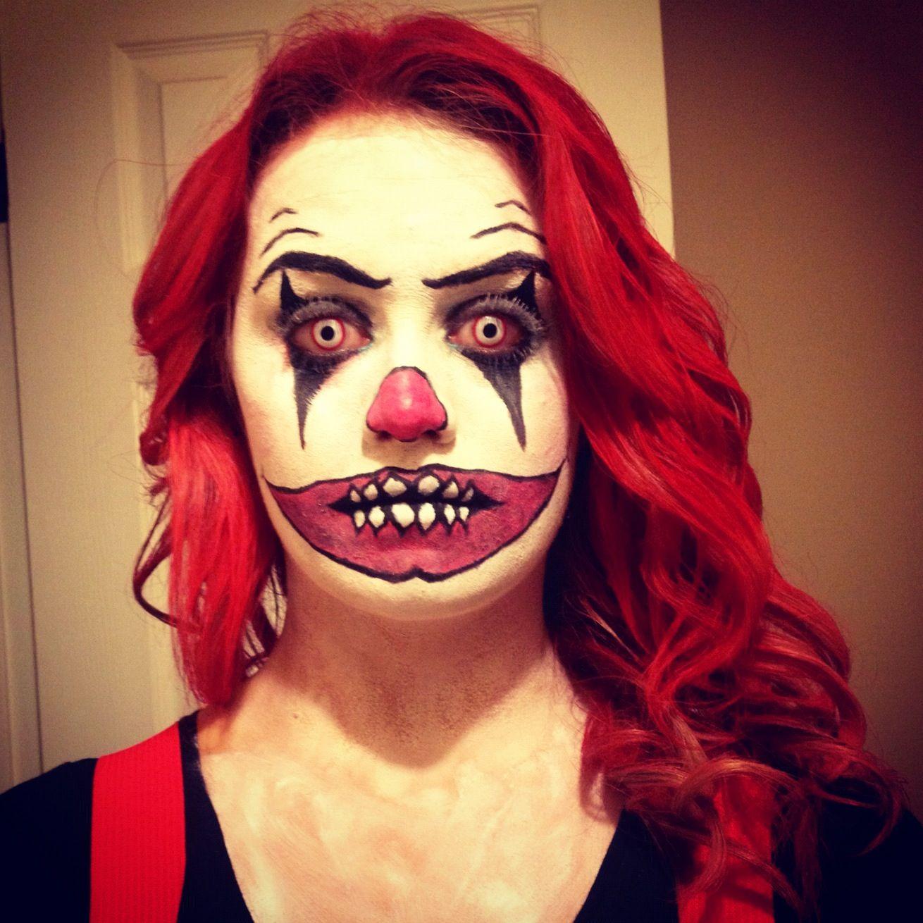 creepy clown halloween costume my style pinterest. Black Bedroom Furniture Sets. Home Design Ideas