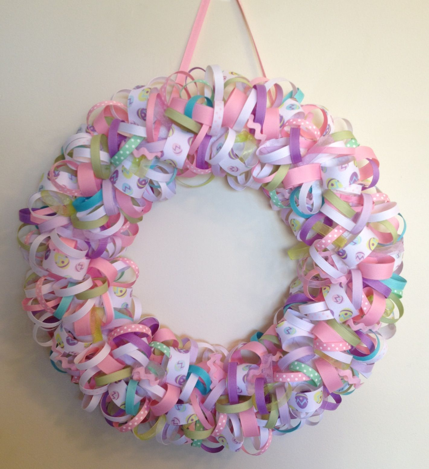 Easter Egg Wreath | I can do it all by myself | Pinterest