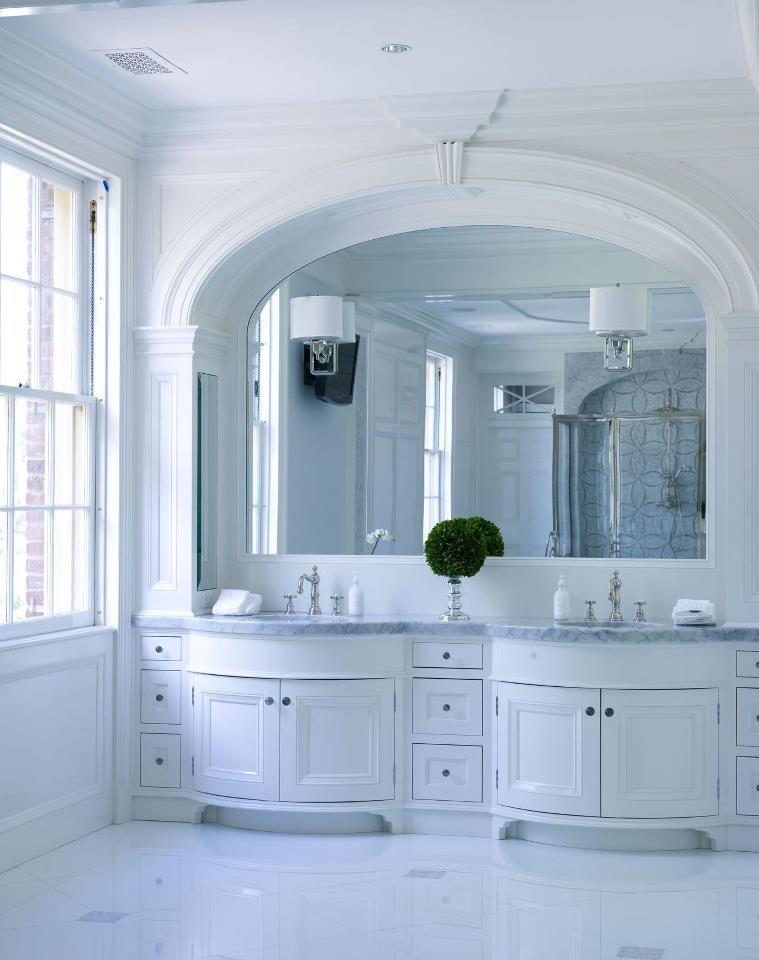 curved vanity bathroom pinterest