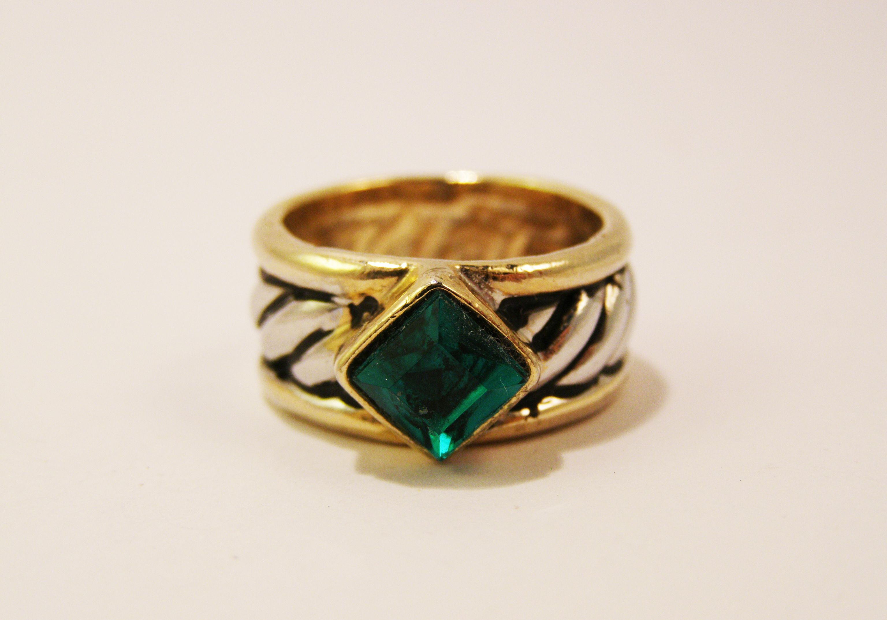 emerald ring sold vintage costume jewelry