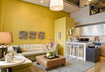 Gewaagde kleur - wel gezellig  Inrichting huis  Pinterest