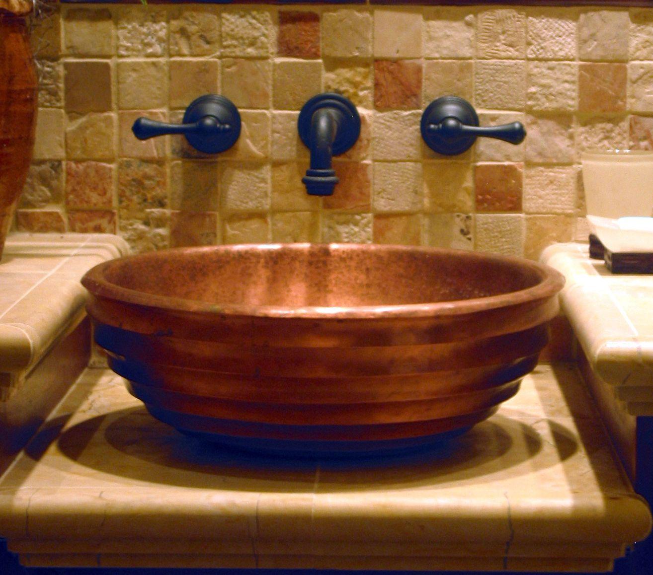 Hand raised copper sink Misc. Pinterest