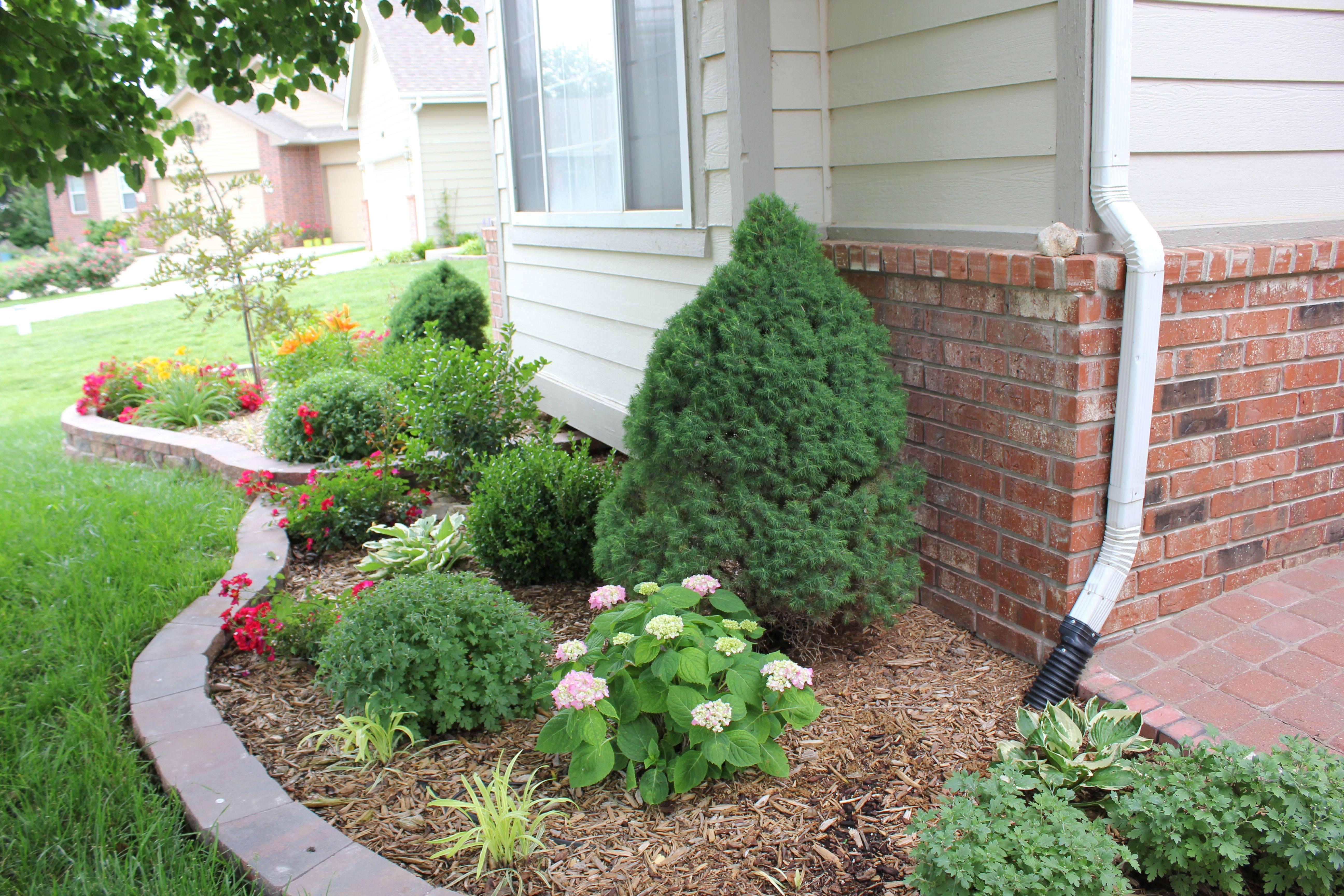 Retaining Wall Blocks From Menards : Perennial flower bed facing south st year spring