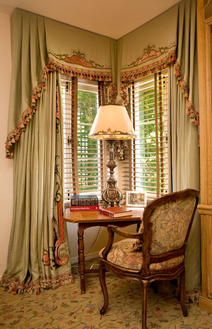 For corner windows window treatments pinterest
