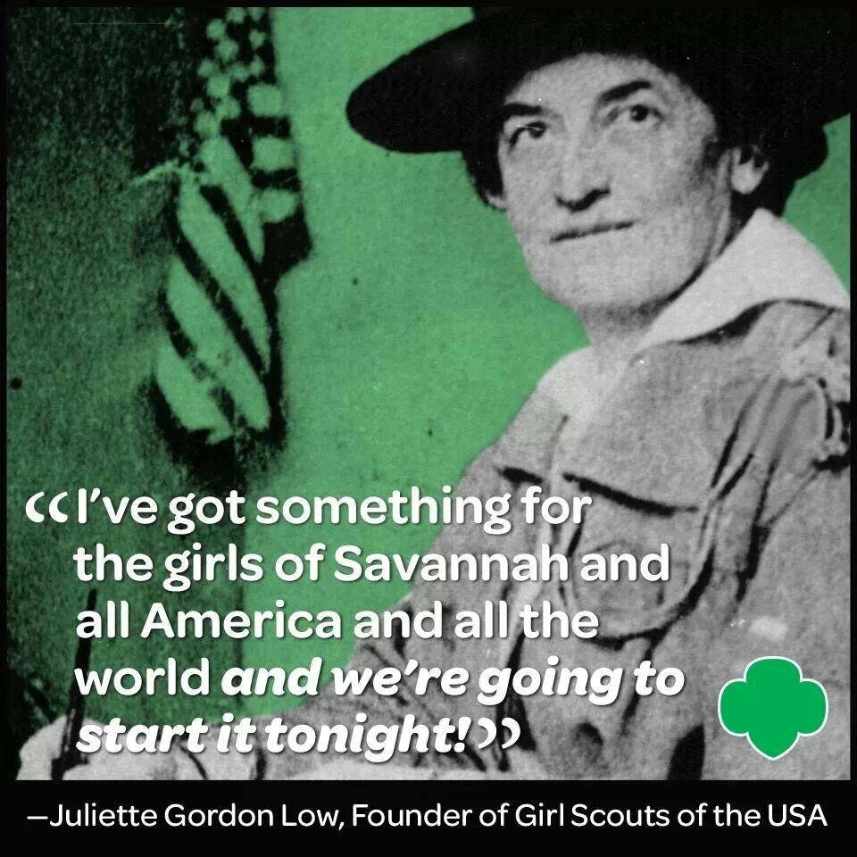 the life and times of the founder of the girl scouts juliette low Choate, anne hyde, and helen ferris, editors, juliette low and the girl scouts: the story of an american woman, 1860-1927, doubleday, 1928 saxton, martha, the best girl scout of them all, american heritage, june/july, 1982, pp 38-47.