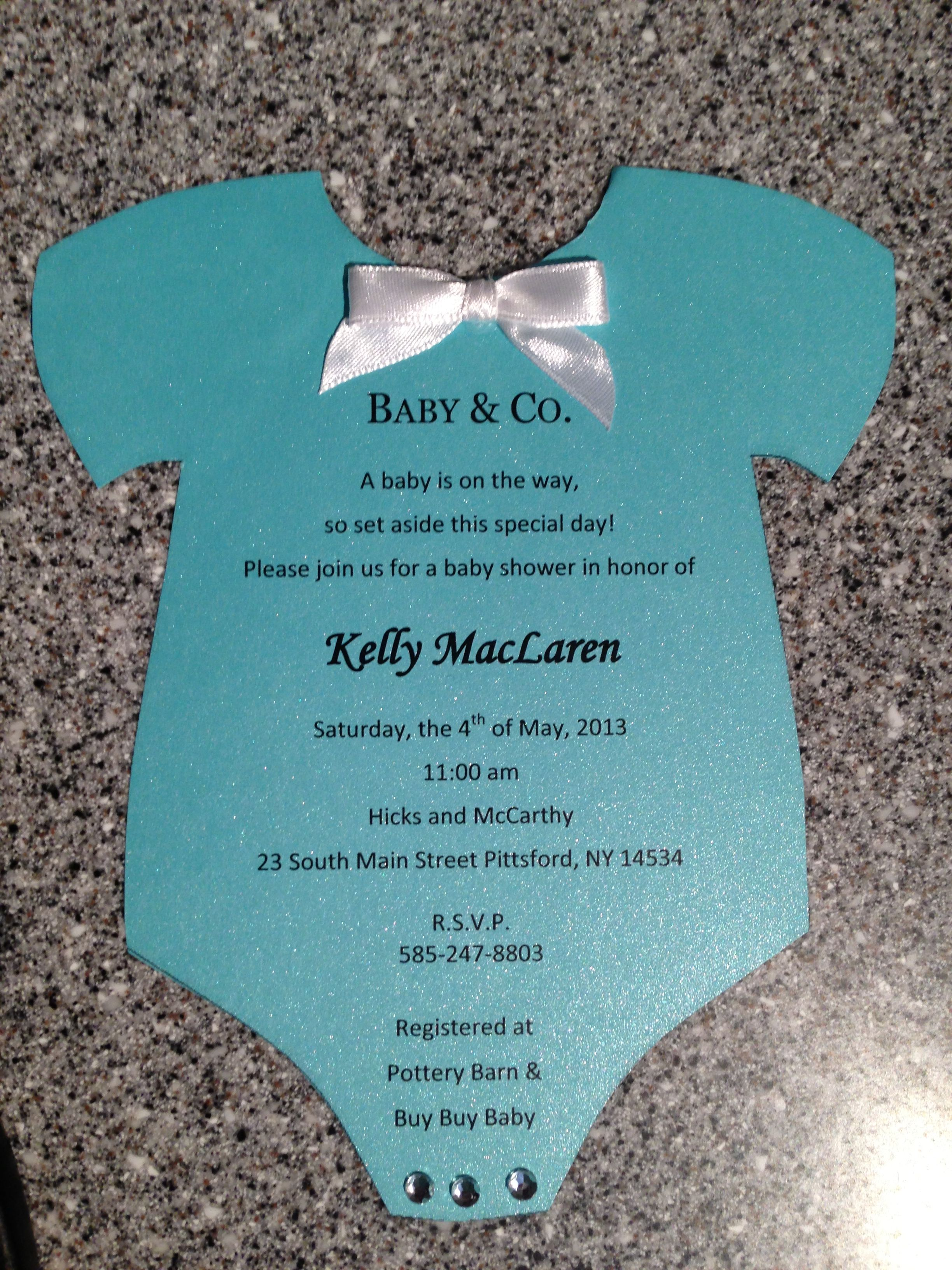 tiffany co baby shower invitation party planning ideas pintere