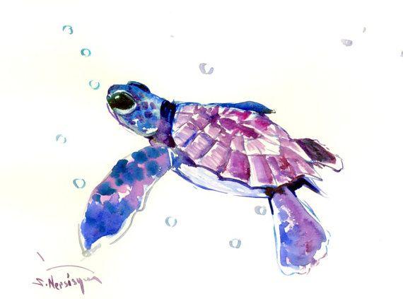 Blue baby turtles