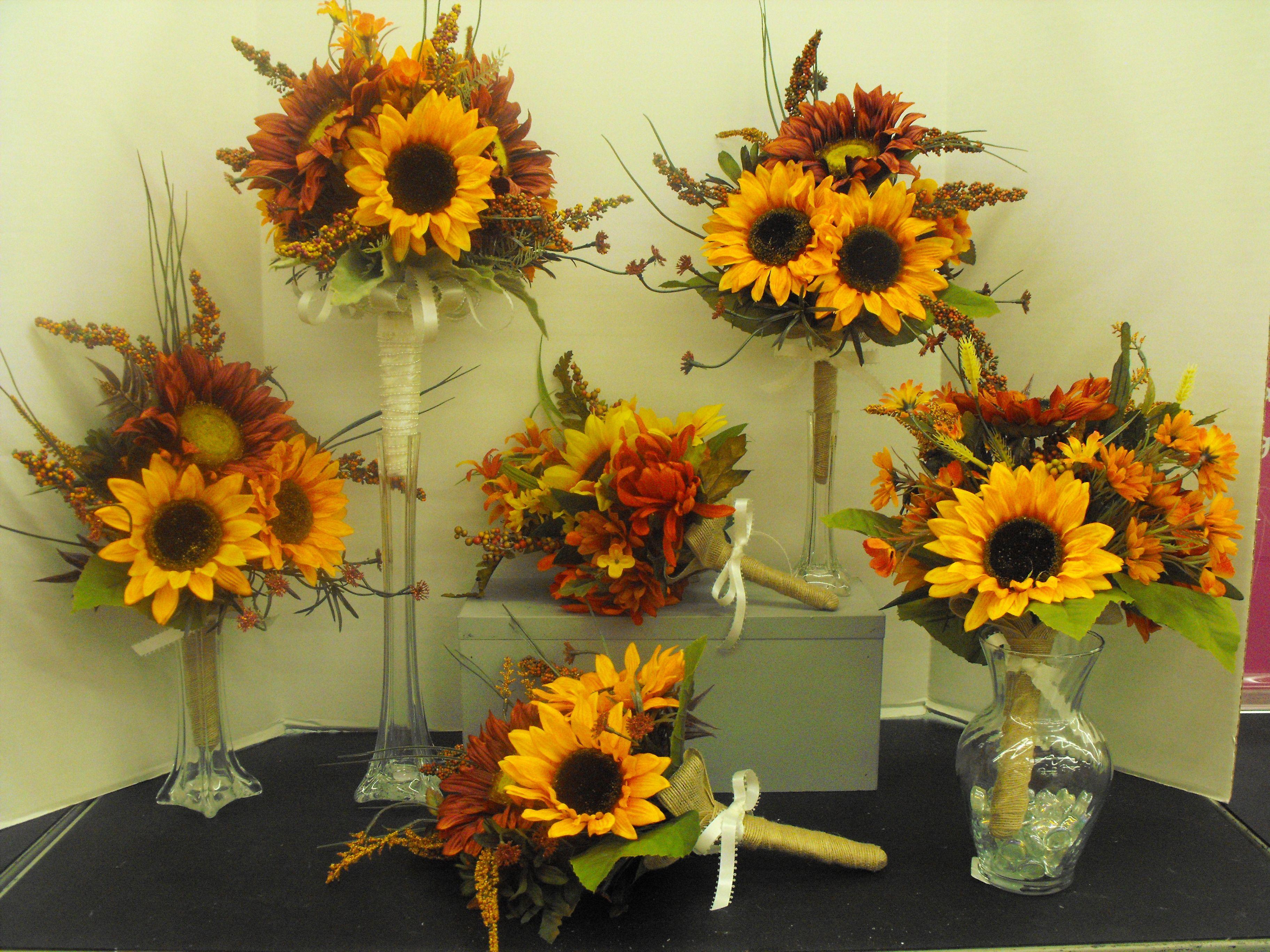 Sunflower Wedding Bouquets Celebration Ideas Pinterest