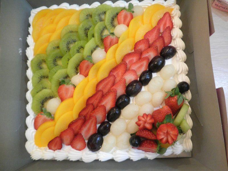 Fruit Decorations on Cake Cake/cupcake decorating ...
