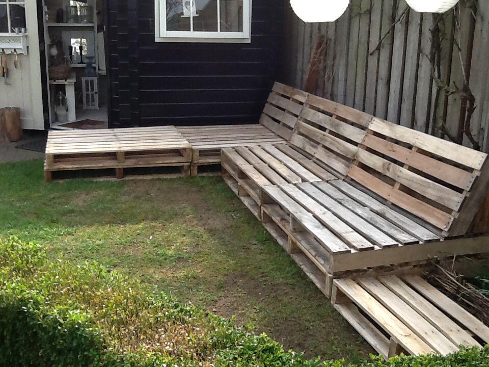 Pallet houten bank!! : Pallet hout : Pinterest