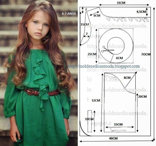 Выкройка платья годе на девочку 10 лет