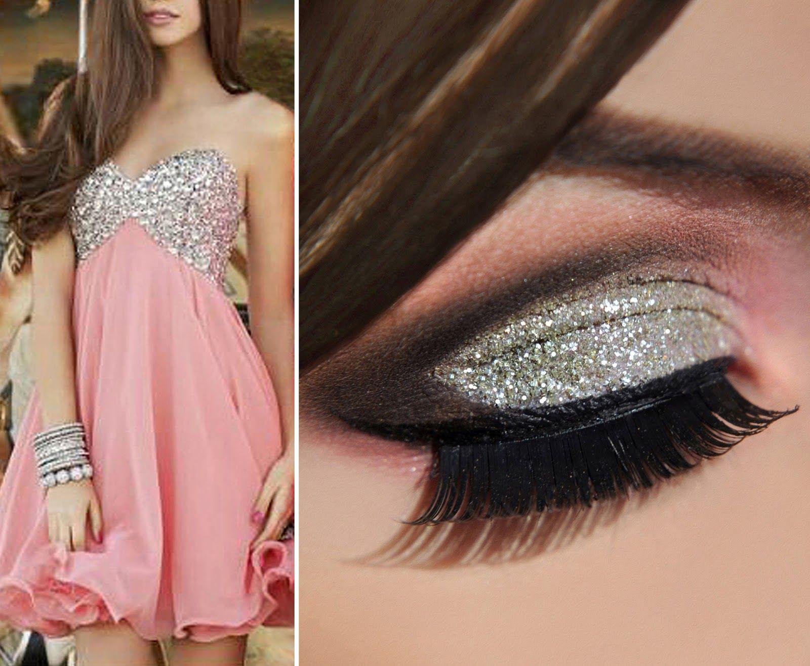 Вечерний макияж фото белое платье