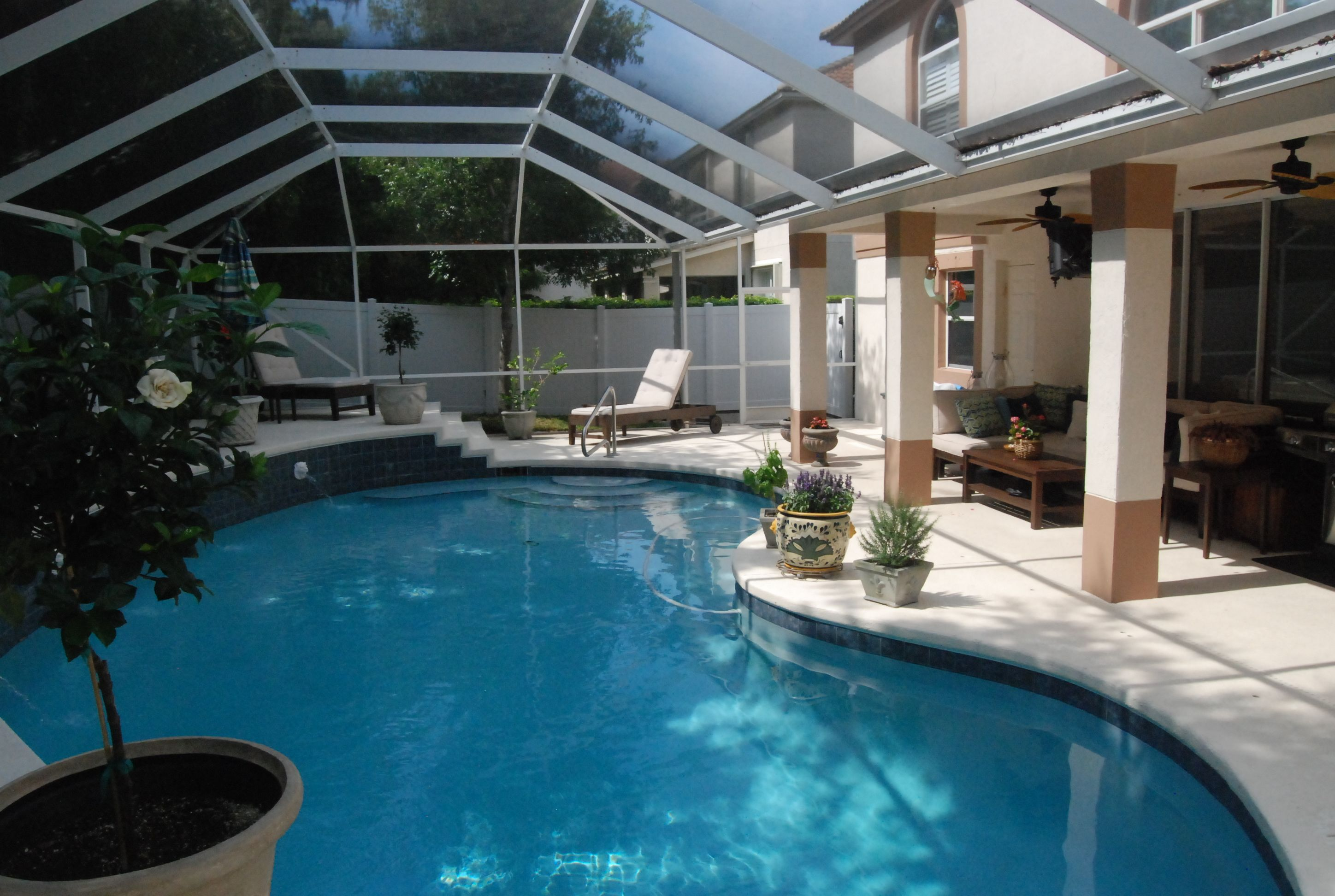 Indoor outdoor pool home pinterest for Indoor garden pool