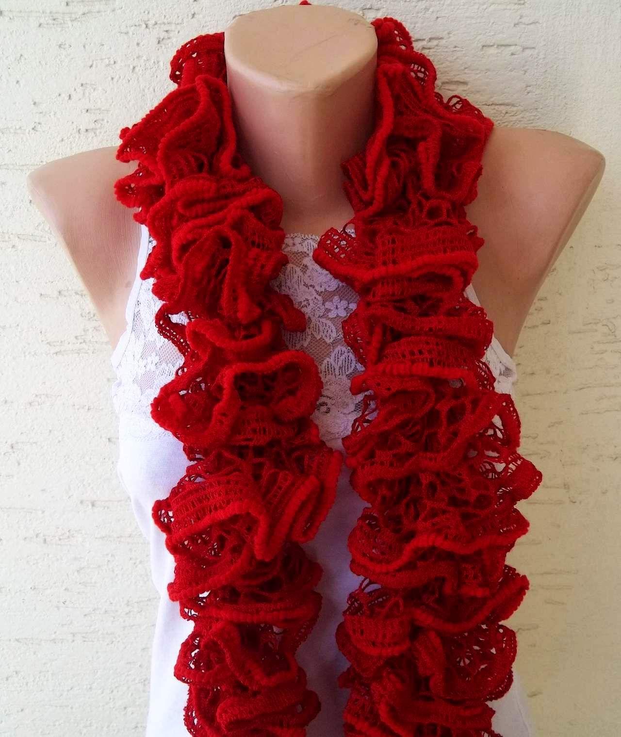 knitting ruffle scarf knitterprincess
