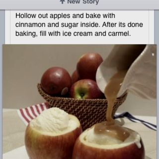 Baked apples with ice cream | Bakery | Pinterest