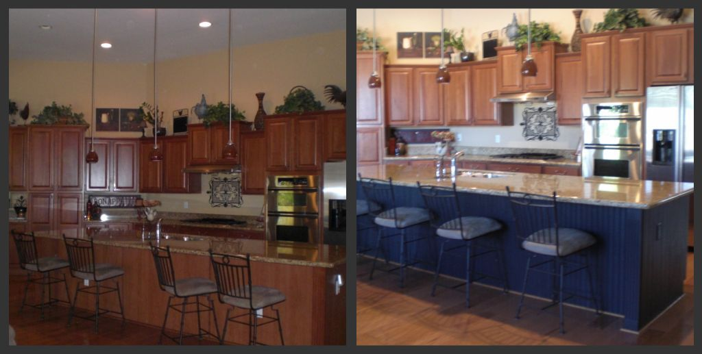 Kitchen Island With New Black Beadboard Home Decor Ideas Pinterest