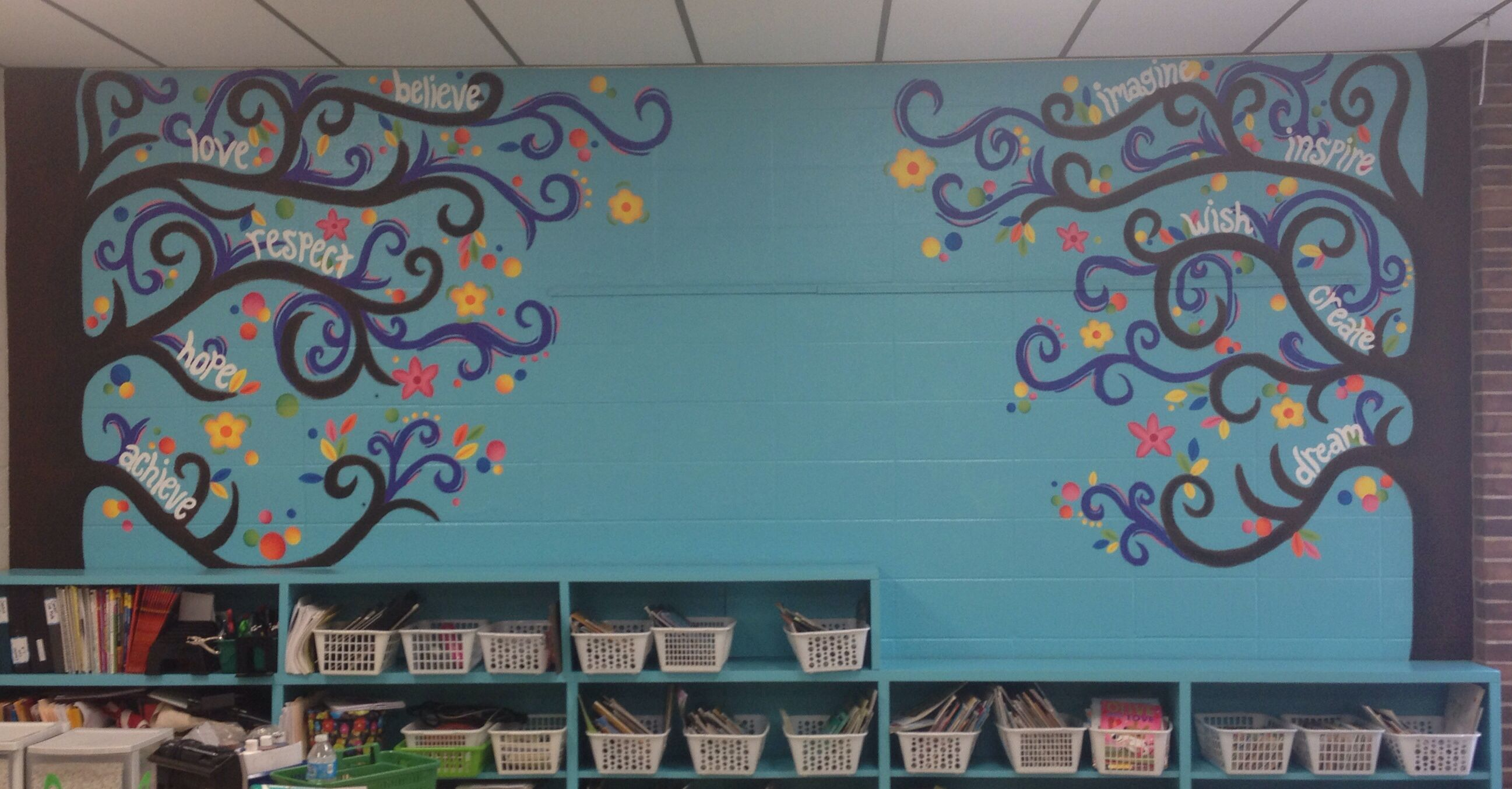 Classroom mural designs pictures to pin on pinterest for Educational mural