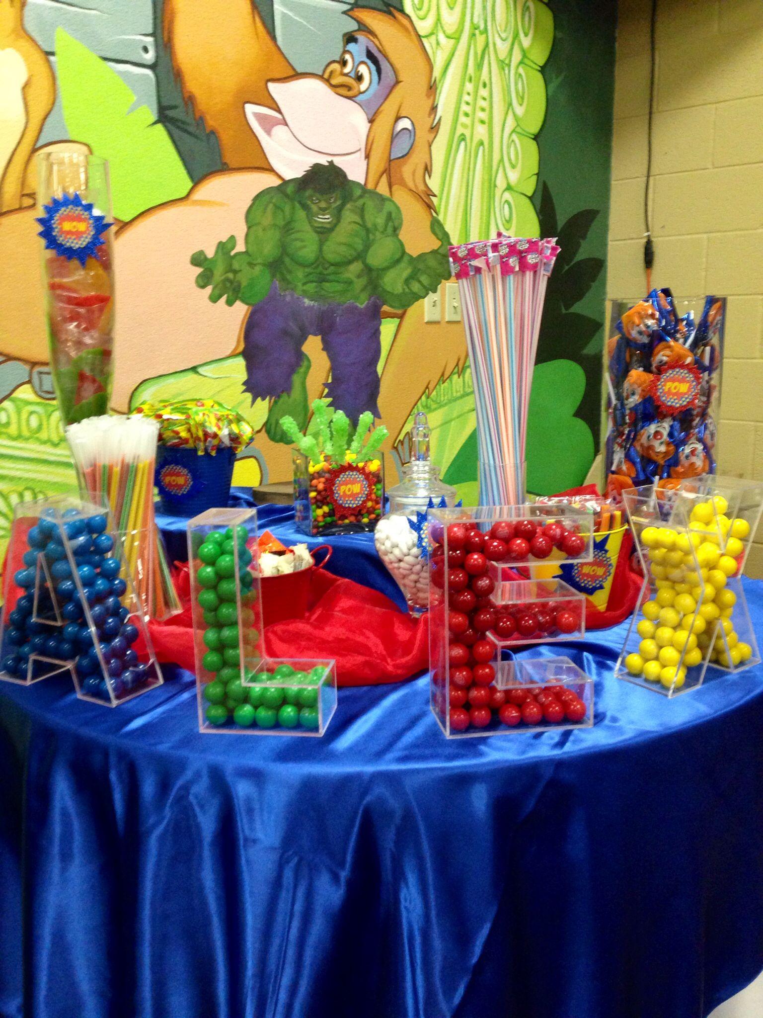Avengers Theme Candy Bar Pinterest