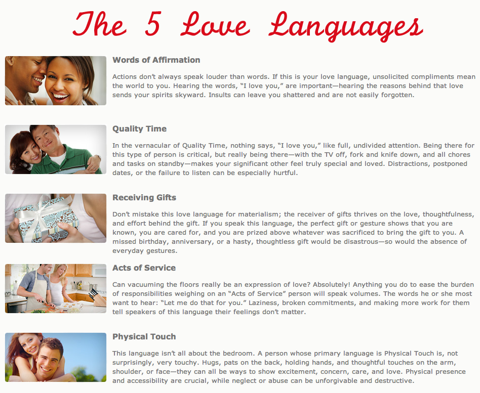 Quotes 5 Love Languages : Which language do you speak? Love and Relationship Quotes and Advic ...