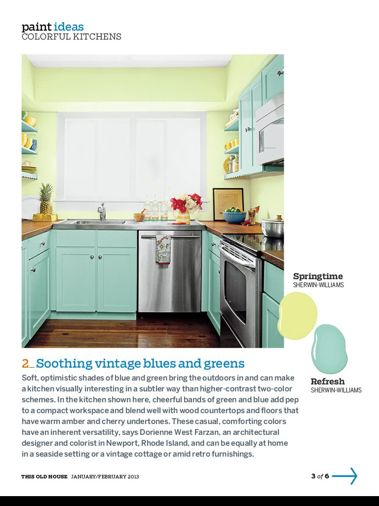 Sea green cabinets, nice small space  kitchen sweet kitchen  Pinter