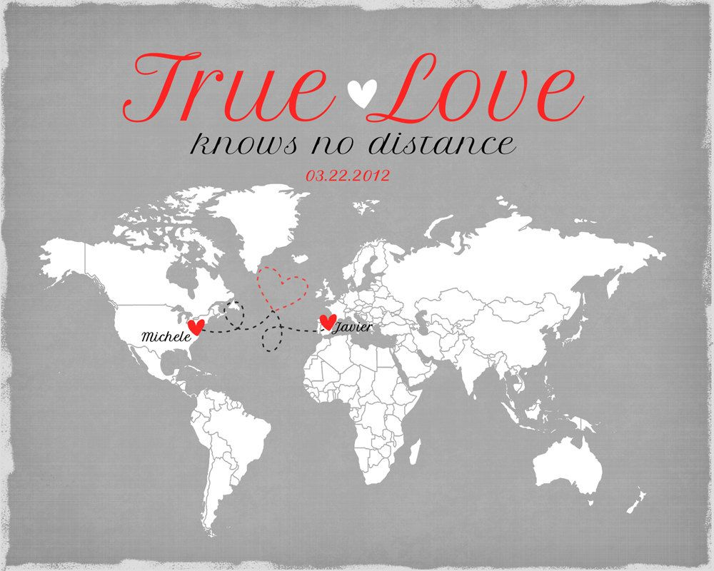 Long Distance Relationship Valentines Day Gift by WanderingFables ...