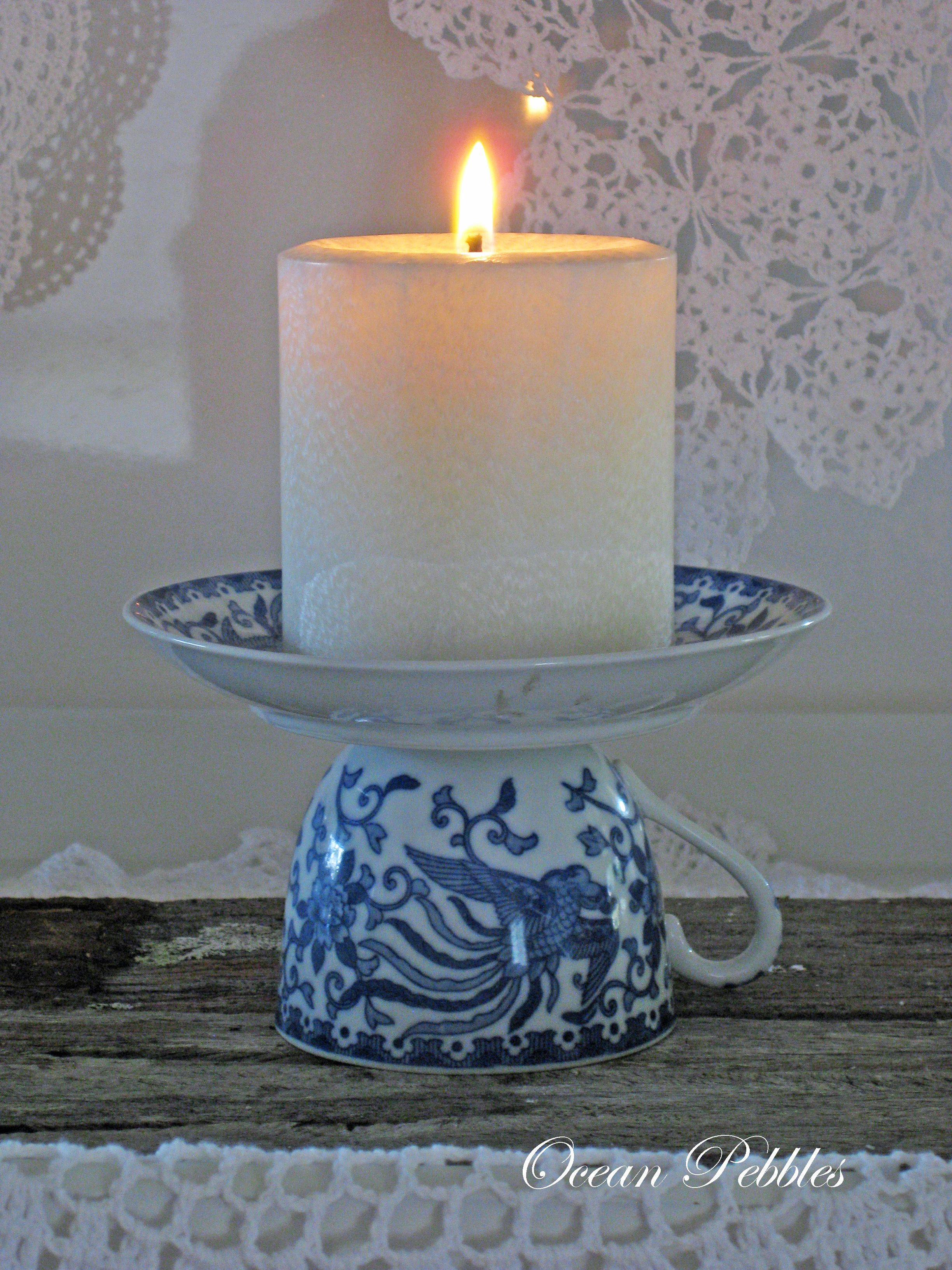 Candle holders clay pot crafts pinterest candle for Candle holder crafts