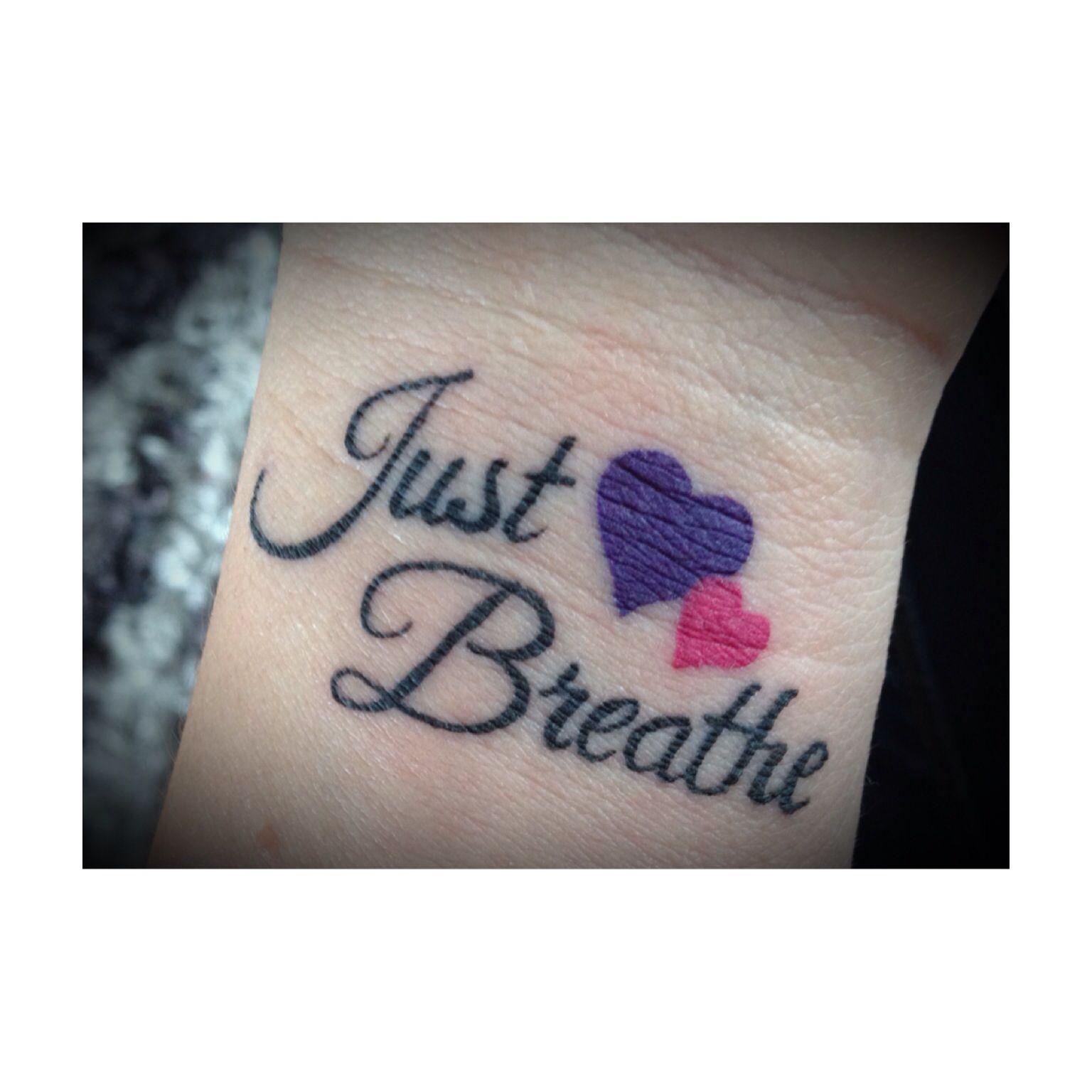just breathe tattoos
