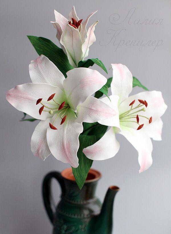Ветка лилии из фоамирана Lilie, Kvetina a Rucne vyrobene