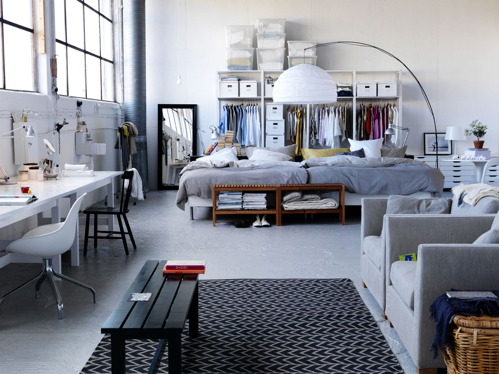 studio apartment ikea home decorating pinterest. Black Bedroom Furniture Sets. Home Design Ideas