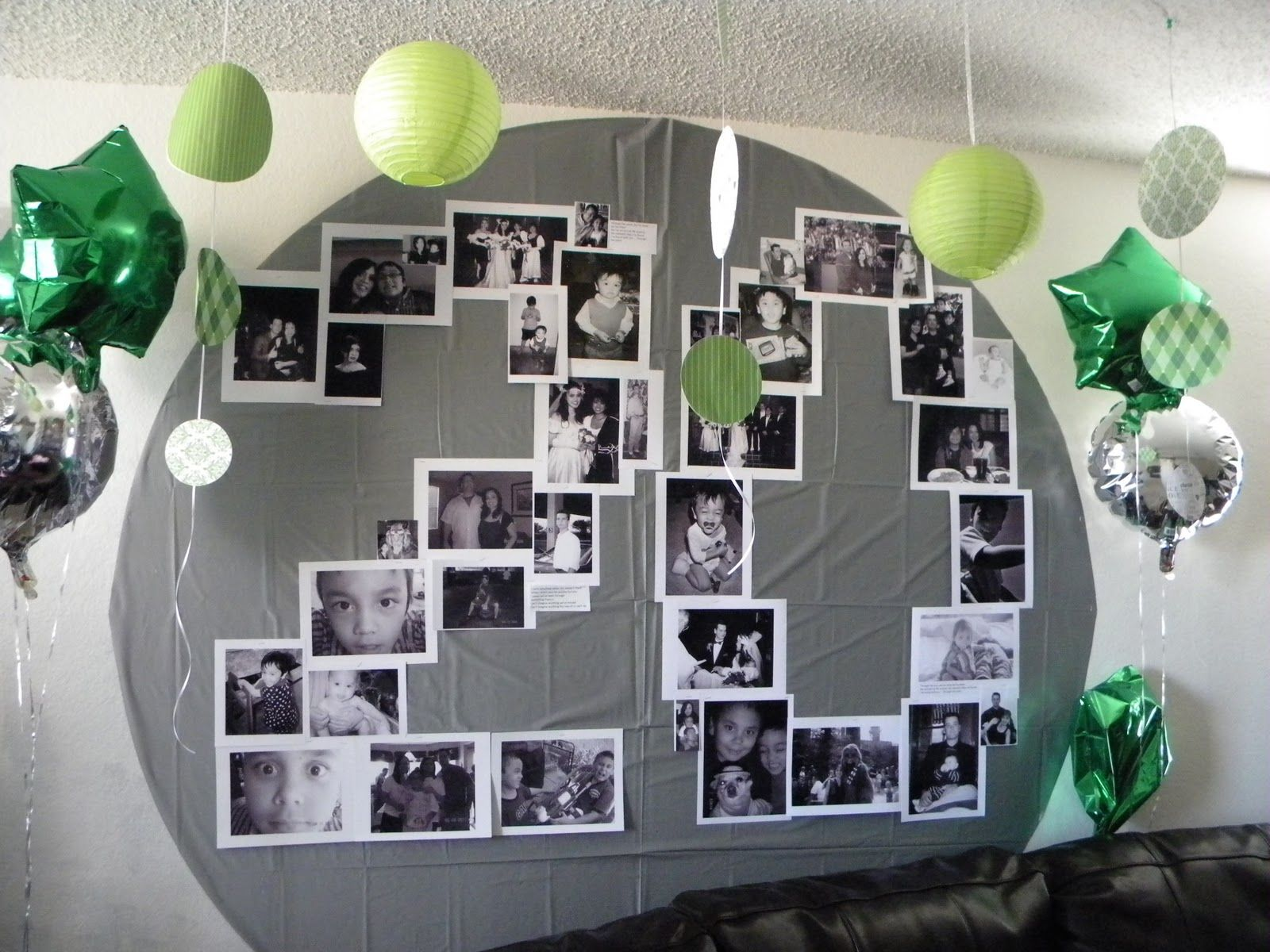 Украсить комнату на день рождения мужа своими руками фото