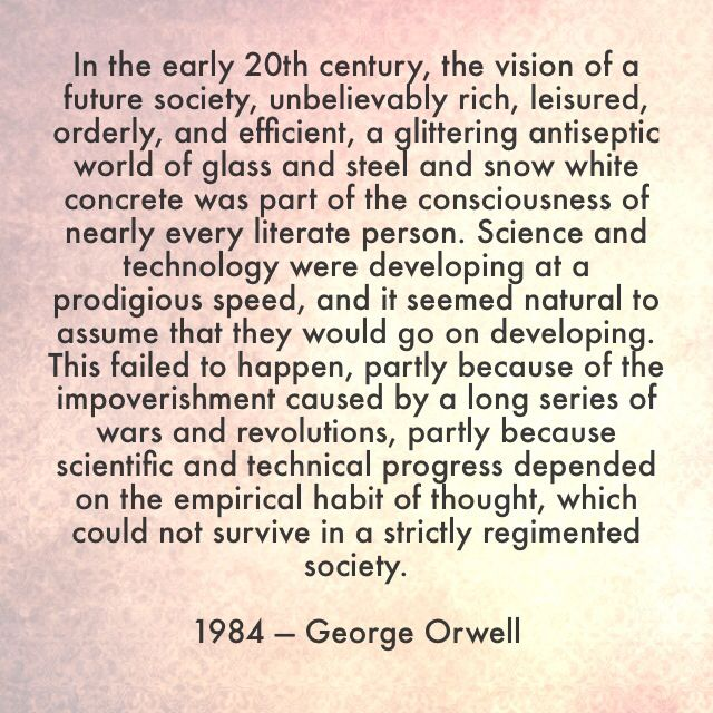 the important factors in the novel 1984 by george orwell The masterpiece that killed george orwell was engaged in a feverish race to finish the book • 1984 it really is rather important, wrote warburg to.