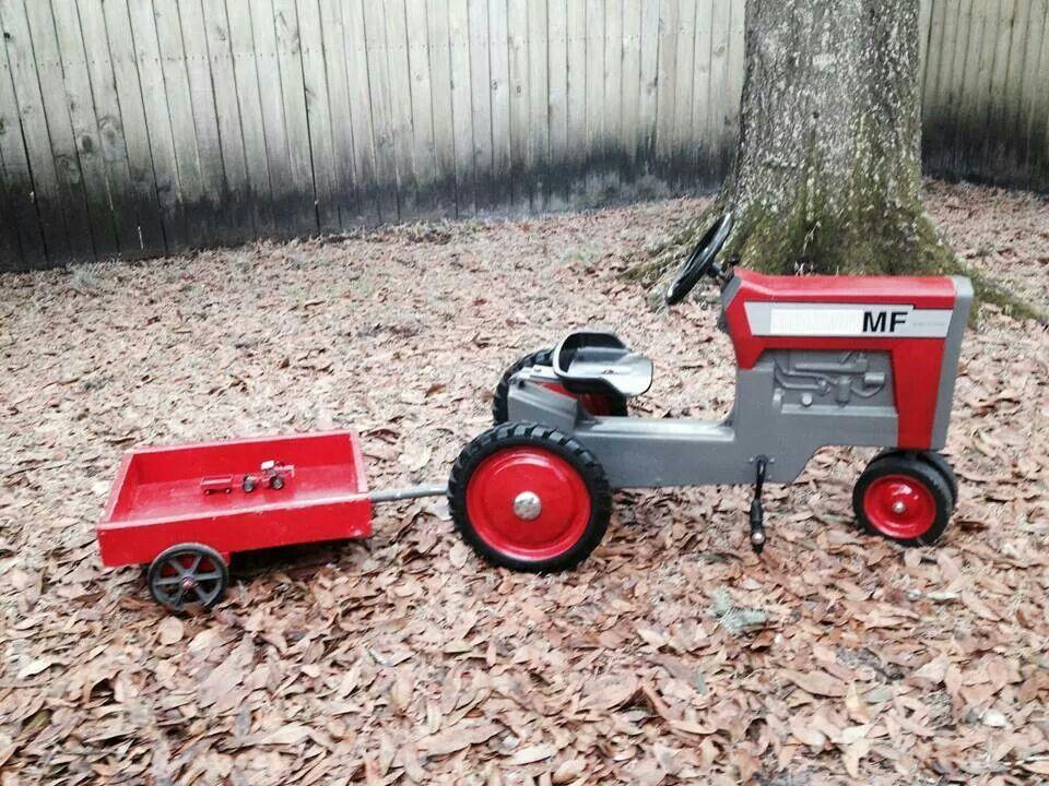 Детский трактор с педалями своими руками 22