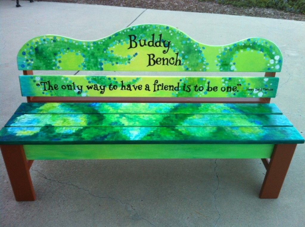 Buddy bench i love the quote on this buddy bench bronze award ideas pinterest playground